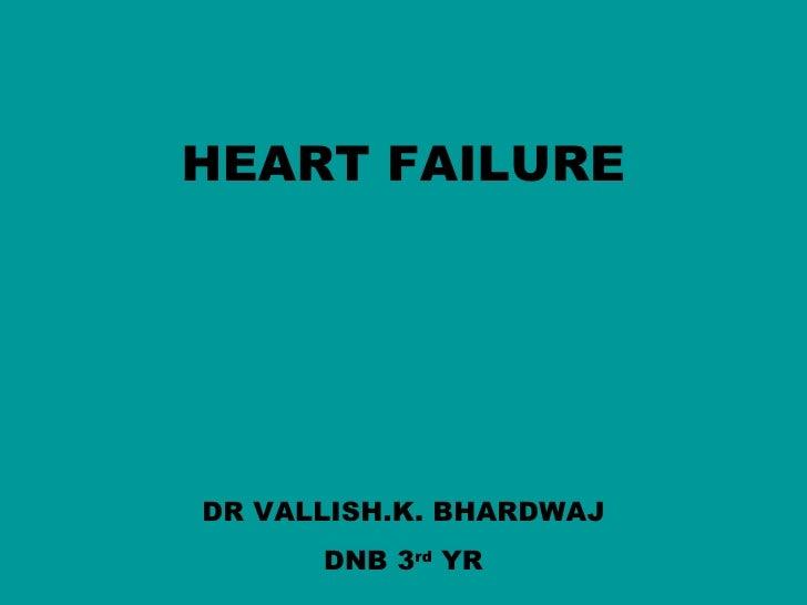 HEART FAILURE     DR VALLISH.K. BHARDWAJ       DNB 3rd YR