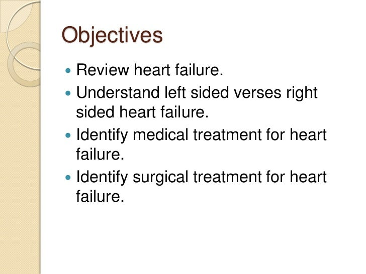 heart failure essays Rationale for congestive heart failure nursing interventions rationale for congestive heart failure nursing interventions congestive heart failure (chf) is a medical syndrome associated with the constellation of symptoms that present from hypoperfused tissues and congested organs (weber, 2004.
