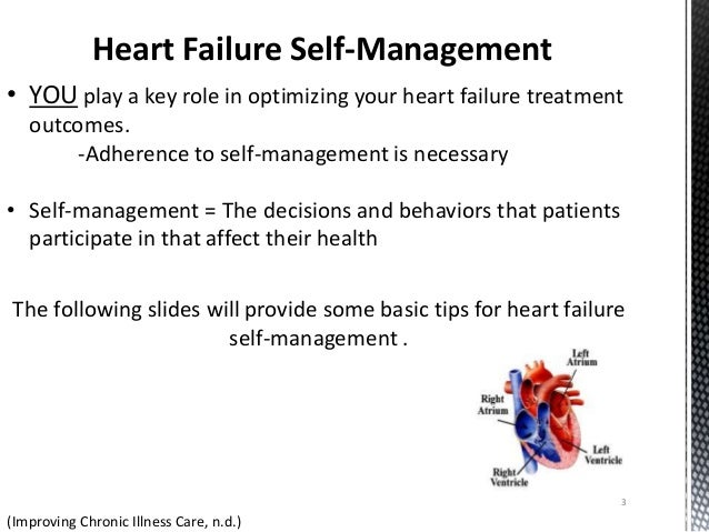 improving heart failure self care management Hf self-care is key to improving outcomes and reducing hf disease burden the findings from this review indicate that  self-care management of heart failure:.