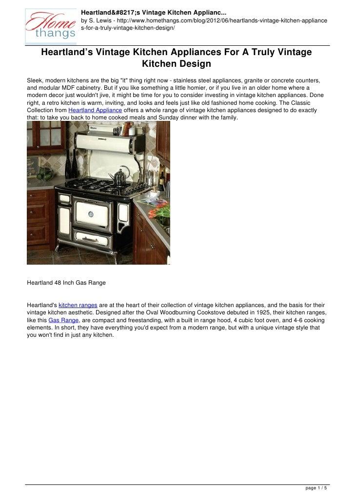 Heartland's Vintage Kitchen Applianc...                     by S. Lewis - http://www.homethangs.com/blog/2012/06/heartland...