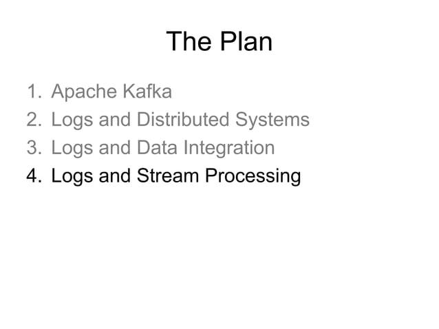 Stream Processing = Logs + Jobs