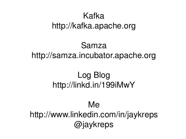 I Heart Log: Real-time Data and Apache Kafka