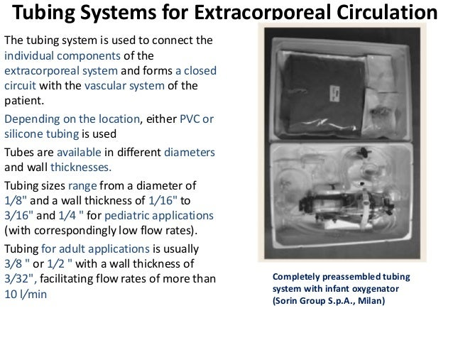 Tubing Systems for Extracorporeal Circulation The tubing system is used to connect the individual components of the extrac...