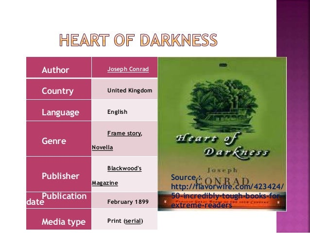 heart of darkness time period