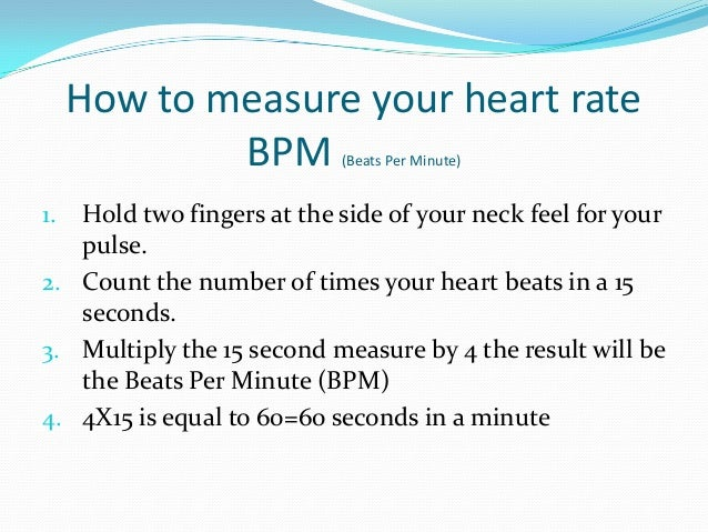 How do you check your pulse?