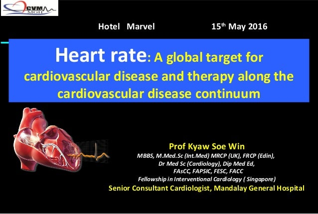Heart rate: A global target for cardiovascular disease and therapy along the cardiovascular disease continuum Prof Kyaw So...