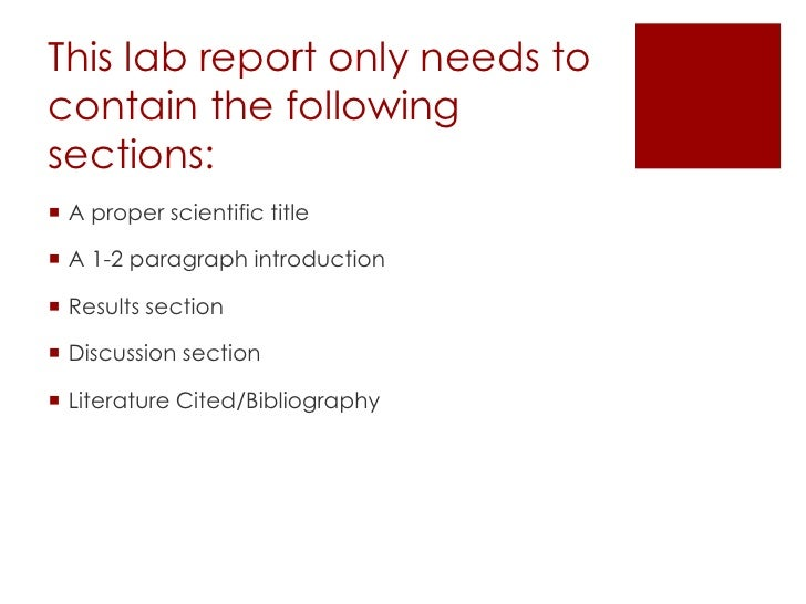 Lab report title