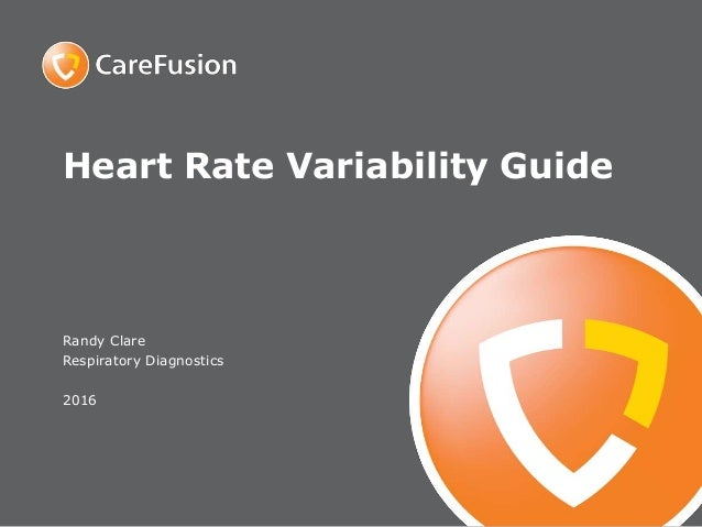 Heart Rate Variability Guide Randy Clare Respiratory Diagnostics 2016