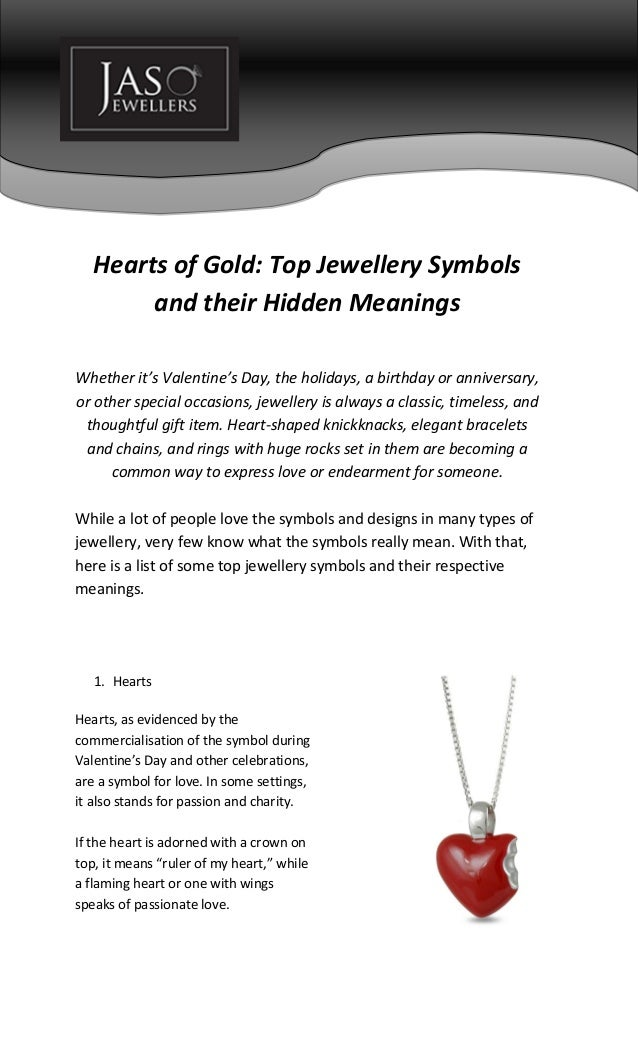 Hearts Of Gold Top Jewellery Symbols And Their Hidden Meanings