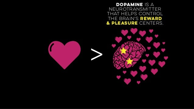 > dopamine is a neurotransmitter  that helps control the brain's reward & pleasure centers.