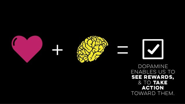 + =dopamine enables us to see rewards,  & to take action toward them.