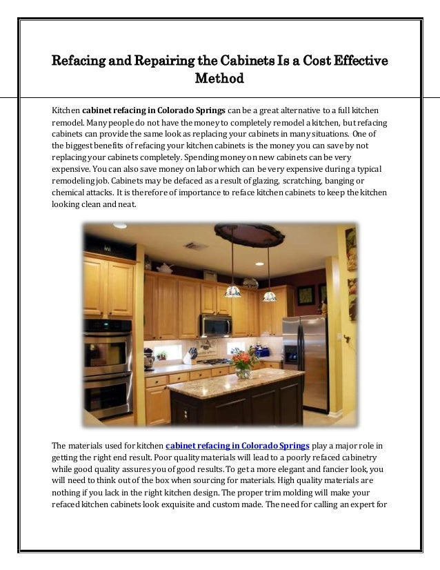 Refacing And Repairing The Cabinets Is A Cost Effective Method
