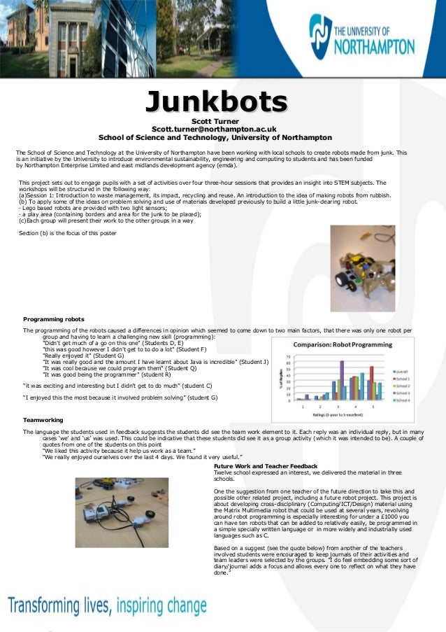 JunkbotsJunkbotsScott TurnerScott TurnerScott.turner@northampton.ac.ukScott.turner@northampton.ac.ukSchool of Science and ...