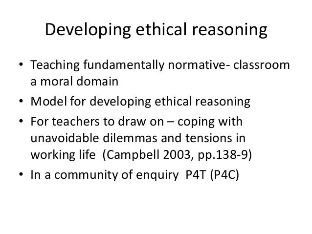 Ethical reflection