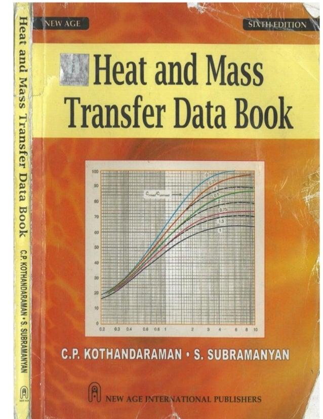 Heat And Mass Transfer Data Book Cp Kothandaraman Pdf