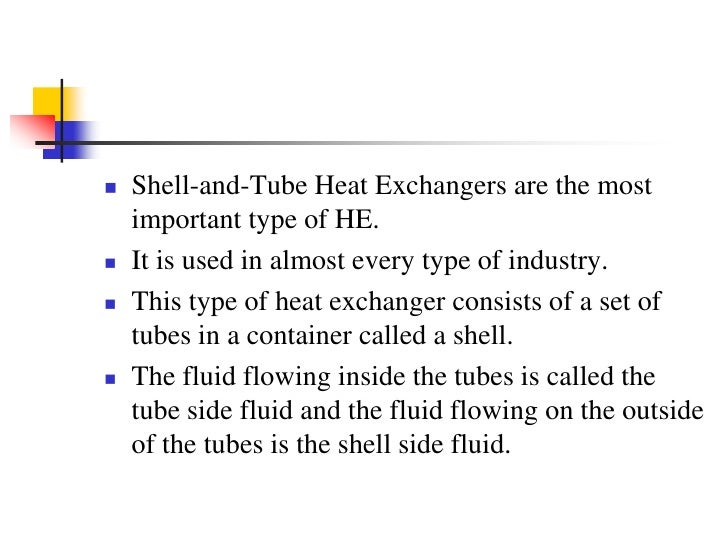 Shell-and-Tube Heat Exchanger<br />