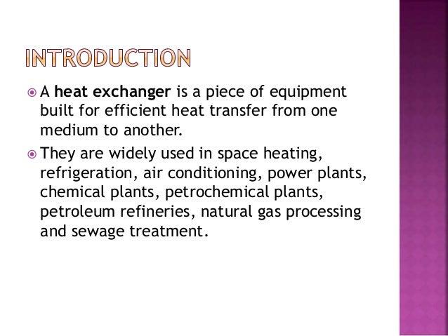 Heat exchangers and types Slide 2