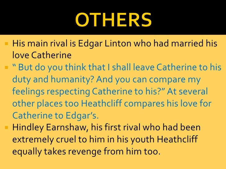 the transformation of heathcliff Start studying wuthering heights key quotes learn vocabulary, terms despite his apparent aesthetic and behavioural transformation, heathcliff's mind was the same.
