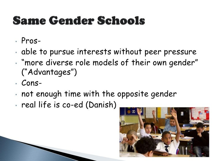 same sex education pros and cons