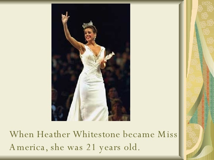 miss america heather whitestone The following was first published in the press of atlantic city on sept 9, 1995 as heather whitestone was finishing her year as miss america 1995.