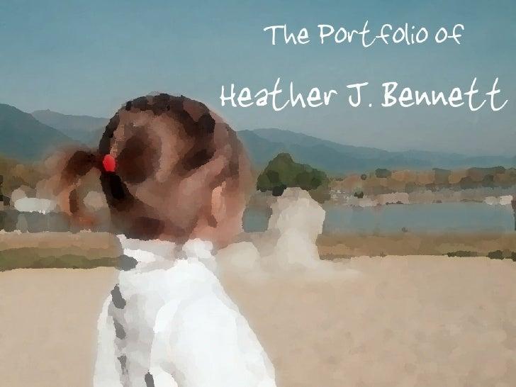 heather jayne bennett the portfolio of