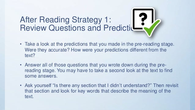 What are some strategies for improving reading comprehension?