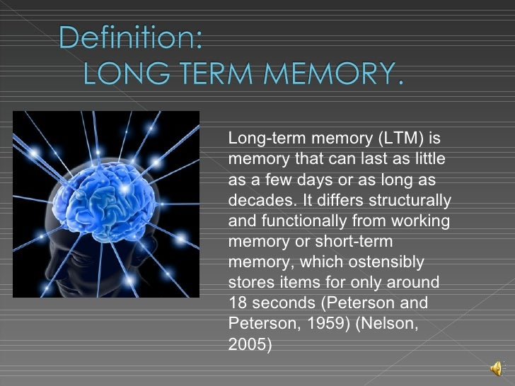 long term memory essay Psychologists believe one way the brain organizes information in long-term memory is by category for example, papaya may be organized within the semantic category fruit.