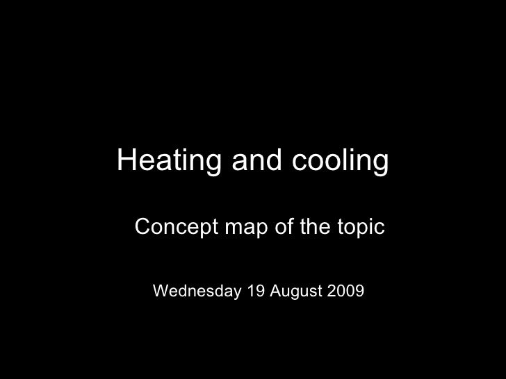 Heating and cooling Concept map of the topic Saturday 6 June 2009