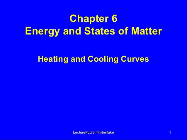 Chapter 6 Energy and States of Matter Heating and Cooling Curves  LecturePLUS Timberlake  1