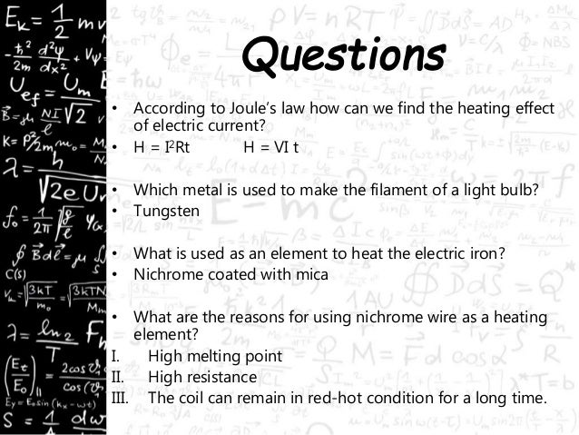 Electric Heating Iron Effect ~ Heating effect of electric current physics electricity