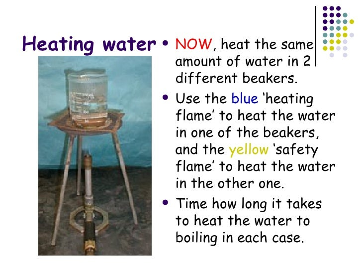 Heating With Bunsen Burner