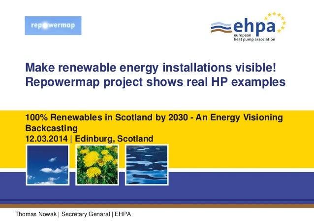 Make renewable energy installations visible! Repowermap project shows real HP examples Thomas Nowak | Secretary Genaral | ...