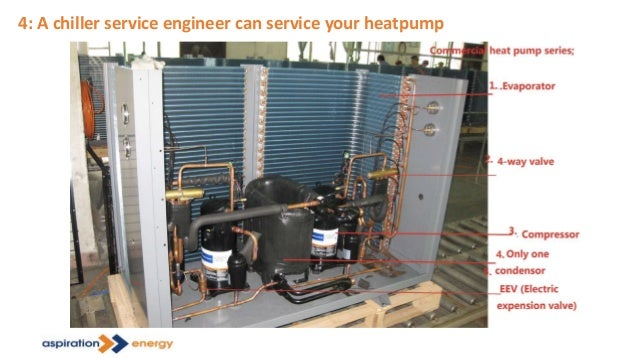 4: A chiller service engineer can service your heatpump