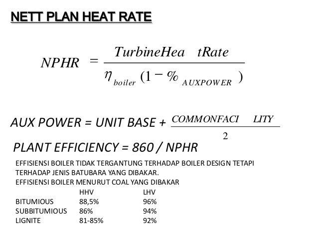 NETT PLAN HEAT RATE                          TurbineHea tRate      NPHR                          boiler                   ...