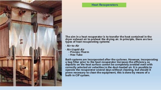 Niro offers two types of Air-Liquid-Air heat recuperators: • Process-Therm heat exchanger • Hex-Tube heat exchanger These ...