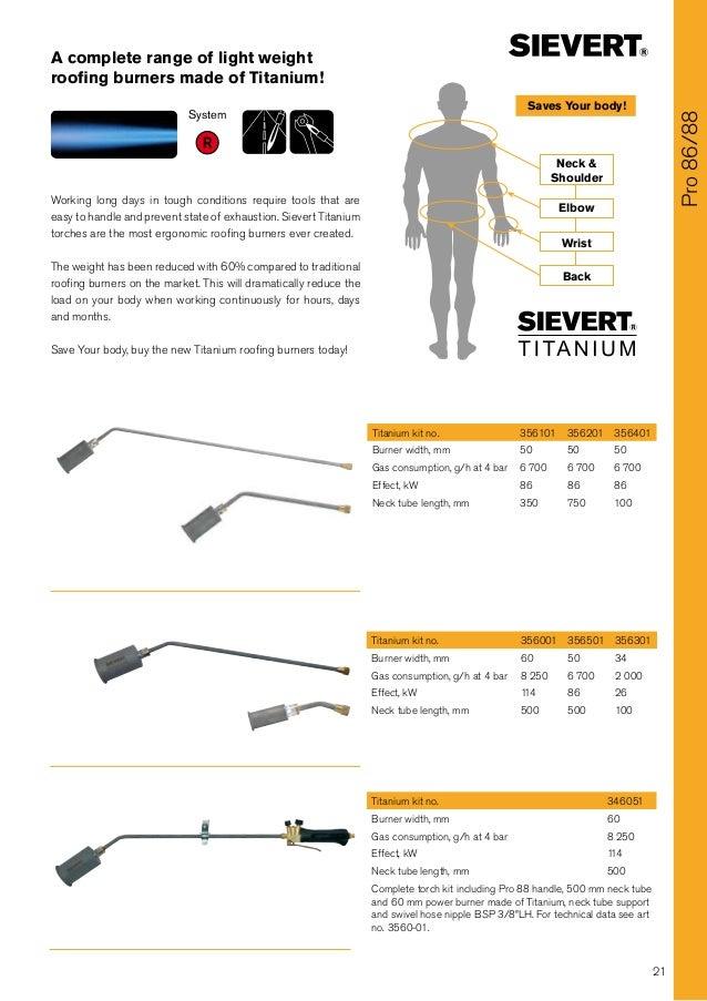 Sievert Primus Heat Shrink Gas Torches - Heat Shrink Gas Torches