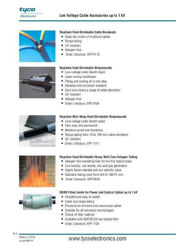 raychem heat shrink tubing catalogue pdf