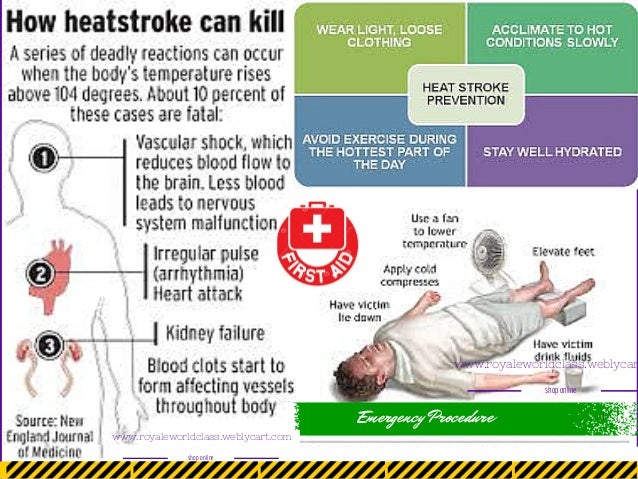 heat stroke essay A rise in the temperature of the blood by less than i co activates peripheral and hypothalamic heat receptors that signal the hypothalamic thermonuclear center, and.