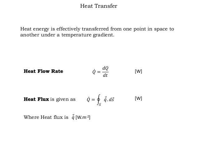 Rate Of Change Heat Flow Unit