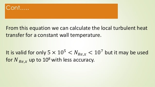 Heat transfer by forced convection in turbulent flow