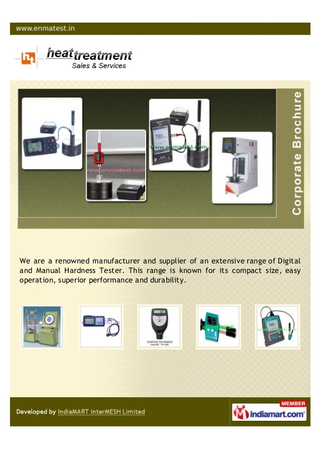 We are a renowned manufacturer and supplier of an extensive range of Digitaland Manual Hardness Tester. This range is know...