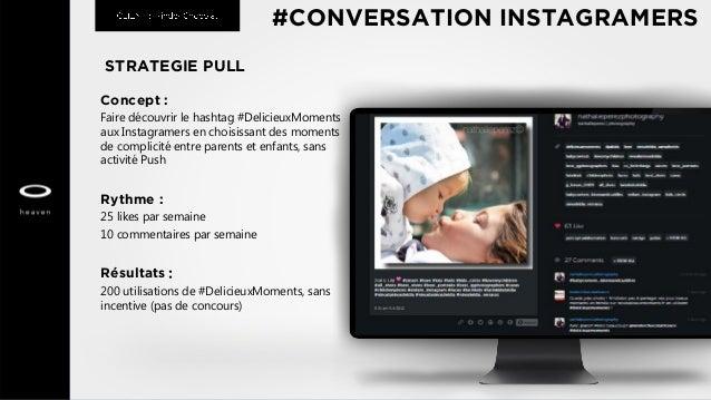 STRATEGIE PULL Concept : Faire découvrir le hashtag #DelicieuxMoments aux Instagramers en choisissant des moments de compl...