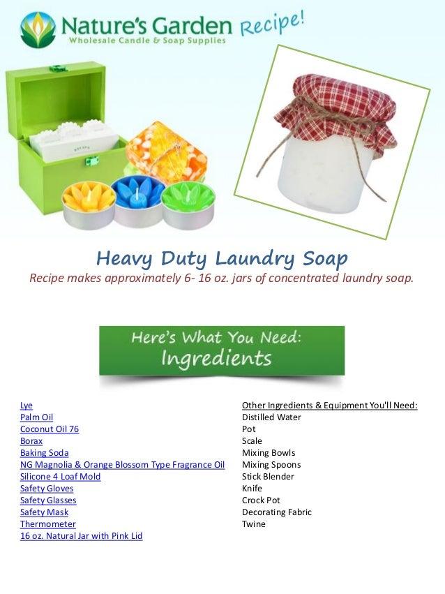 Heavy duty laundry soap
