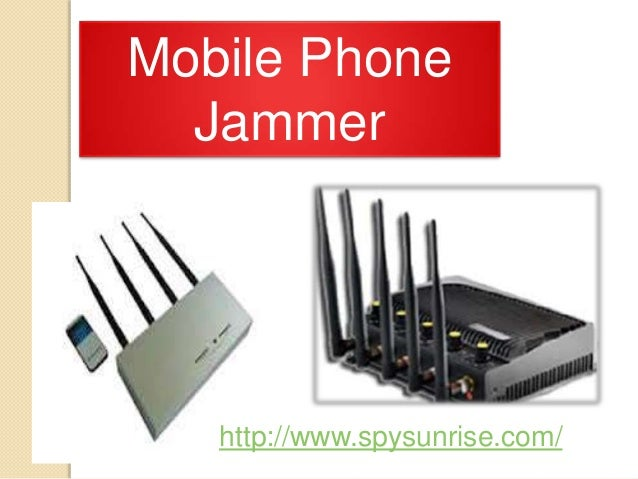 A mobile phone jammer , mobile phone network signal jammer