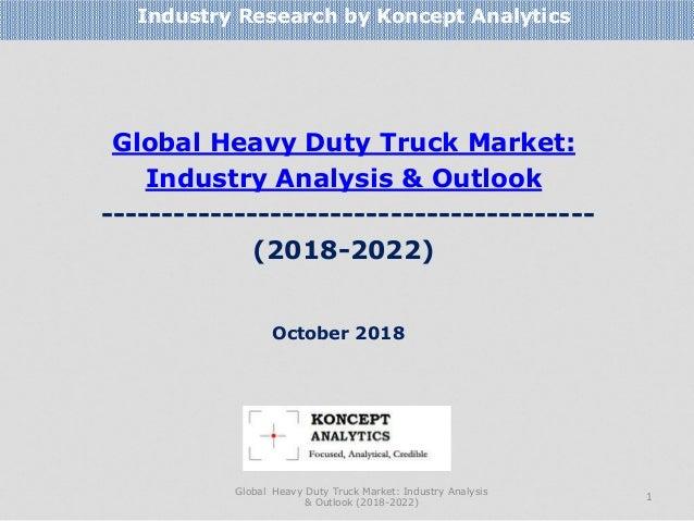 Global Heavy Duty Truck Market: Industry Analysis & Outlook ----------------------------------------- (2018-2022) Industry...