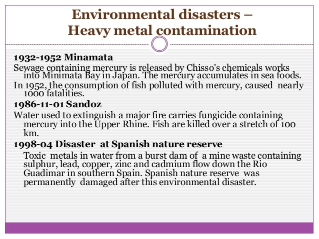 Heavy metal  contamination of global environment Slide 2