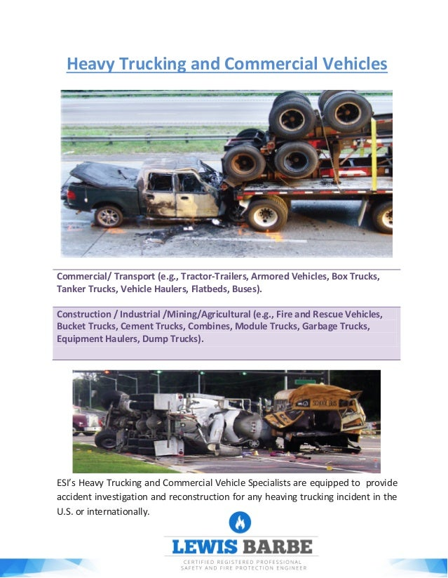 Heavy Trucking and Commercial Vehicles Commercial/ Transport (e.g., Tractor-Trailers, Armored Vehicles, Box Trucks, Tanker...