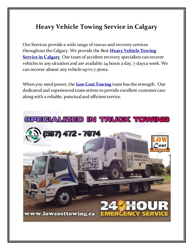 Towing Service Cost >> Heavy Vehicle Towing Service In Calgary