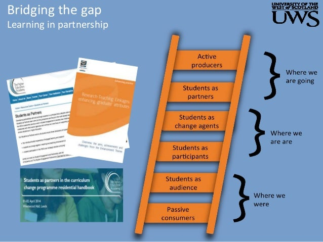 Bridging the gap Learning in partnership