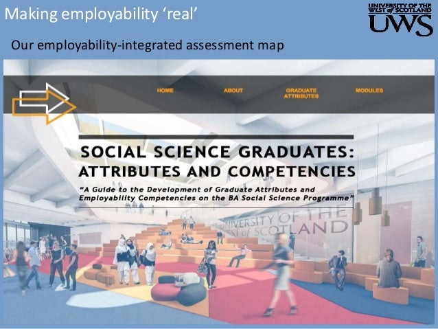 Making employability 'real' Our employability-integrated assessment map
